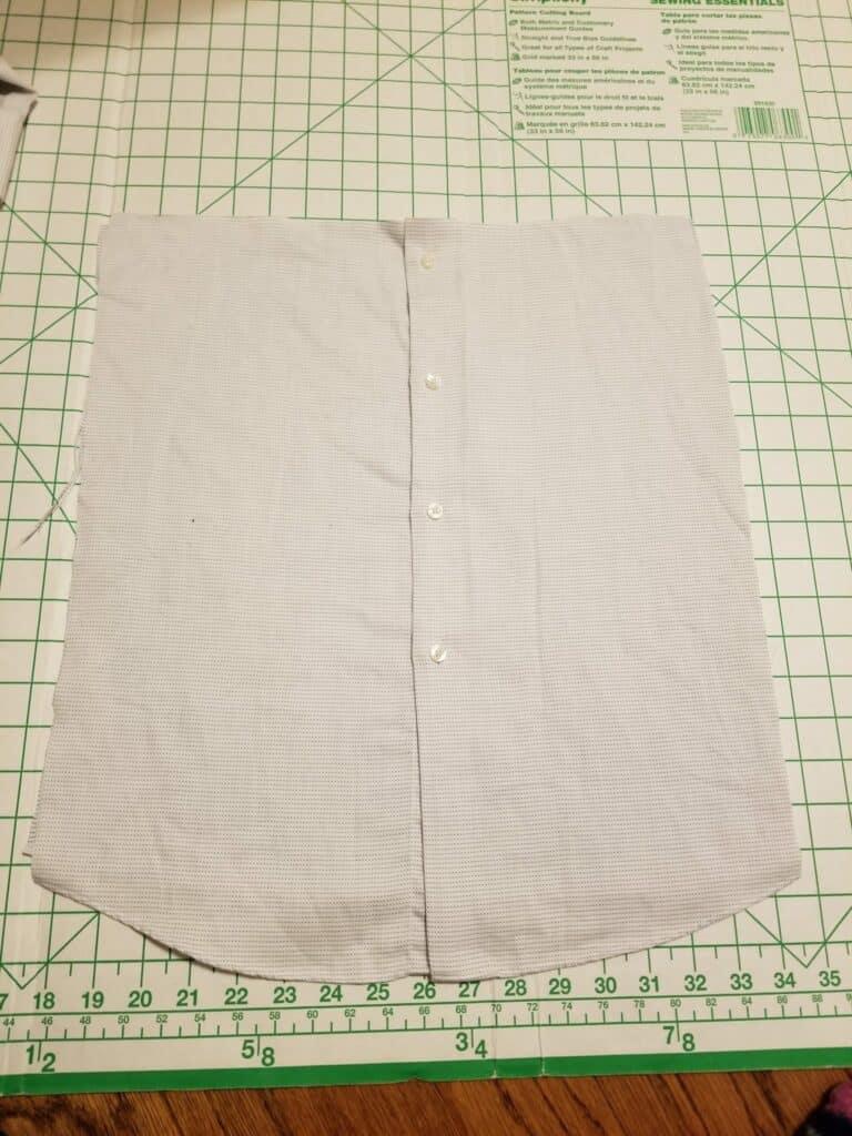 old men's shirt cut out