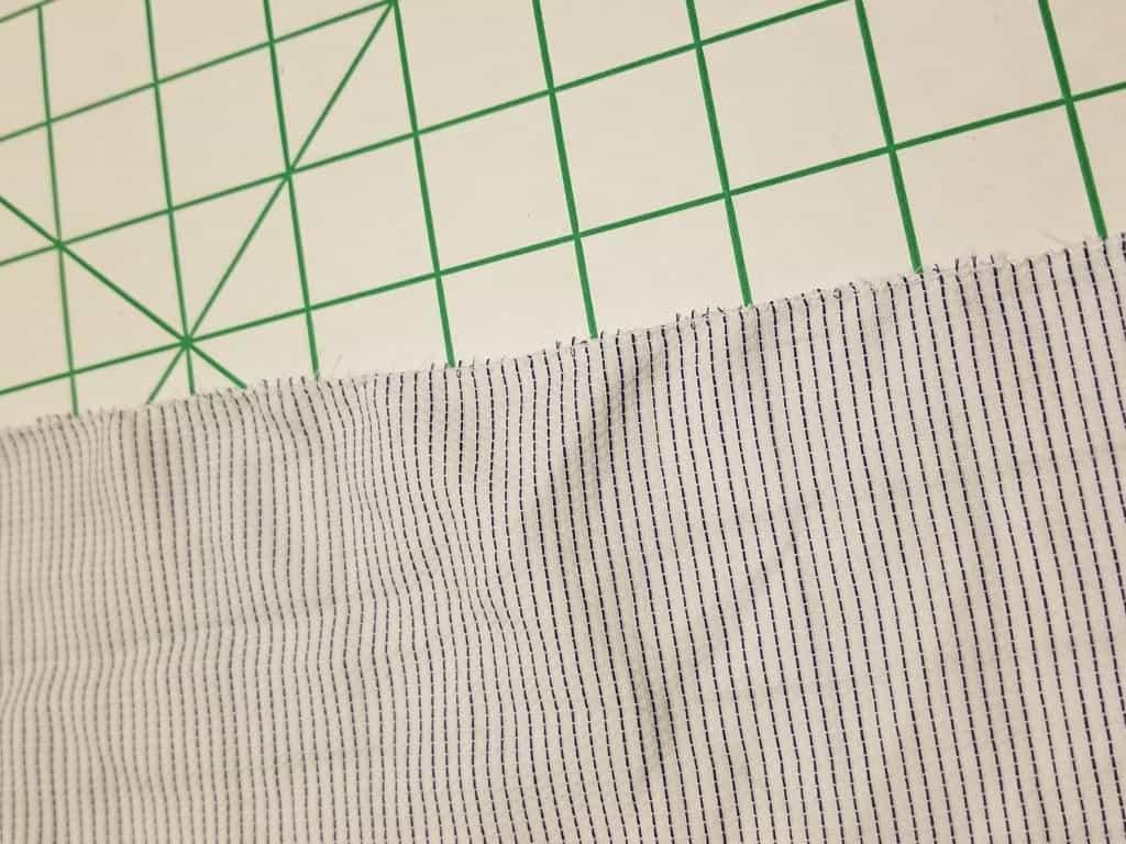finished edges with zigzag