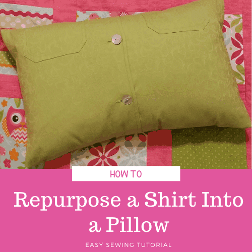Shirt Refashion_ DIY Envelope Pillowcase