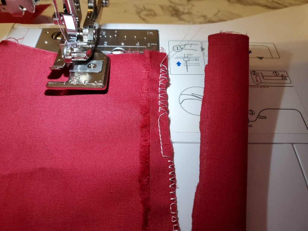 what side cutter stitches look like on fabric