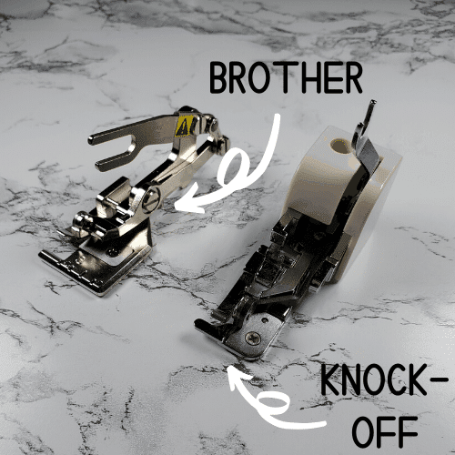 generic vs brother side cutter foot