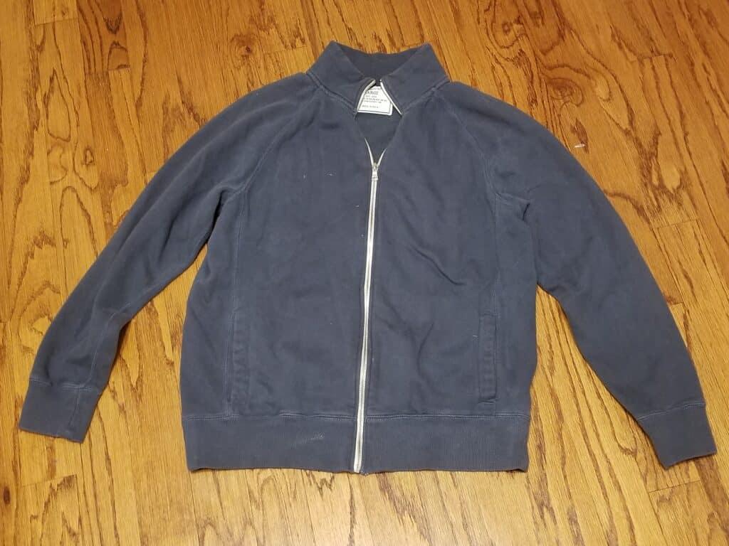 Old jacket before repurposing