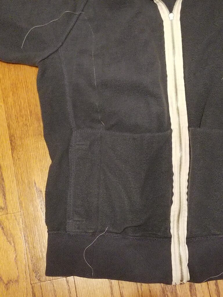 Sew up the sides of the old jacket
