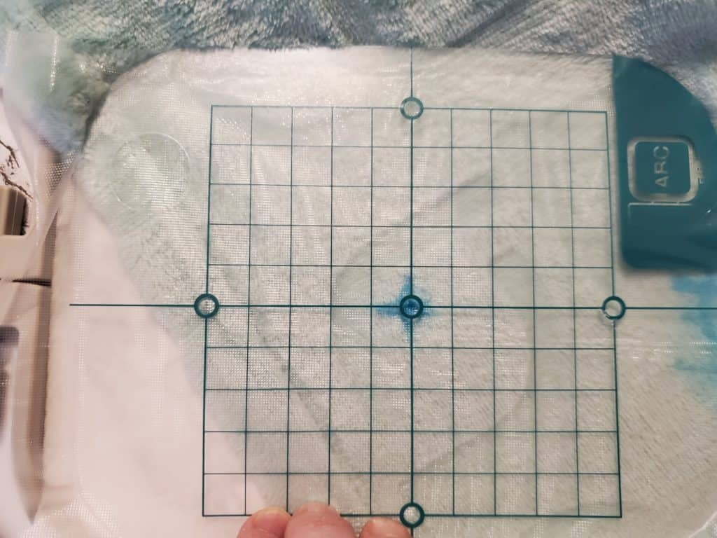 how to line up blanket in hoop