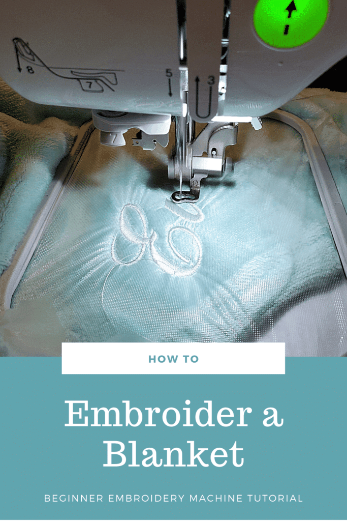 how to machine embroider a blanket