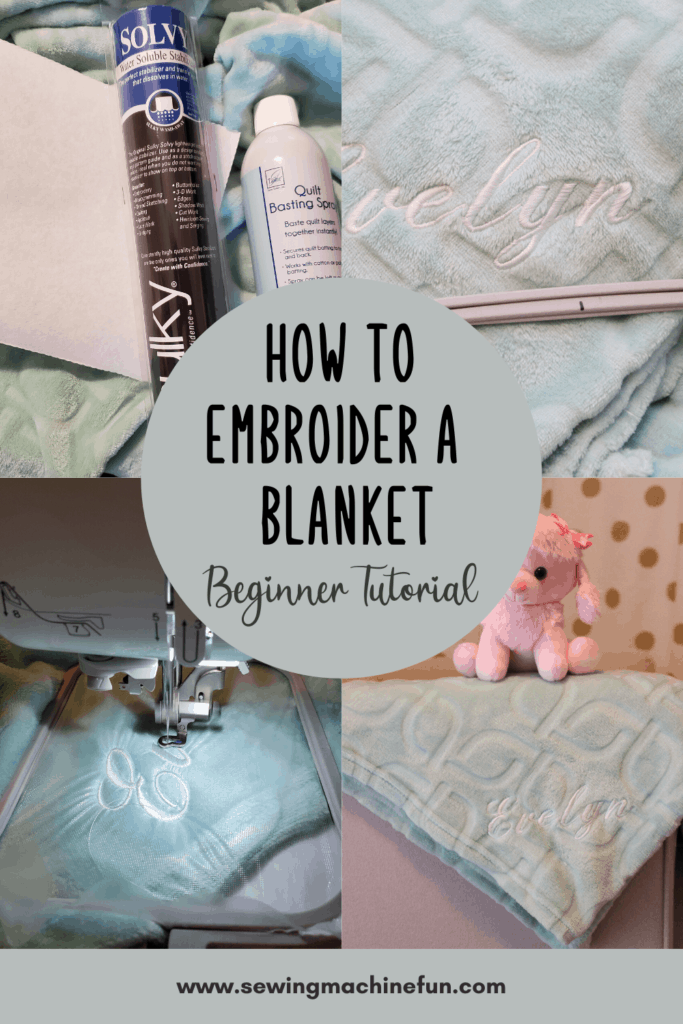 how to embroider a name on a blanket