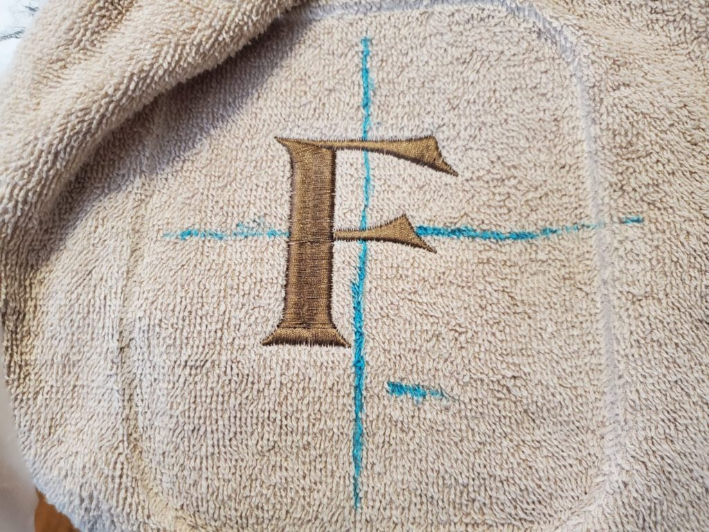 hoop marks left on the towel
