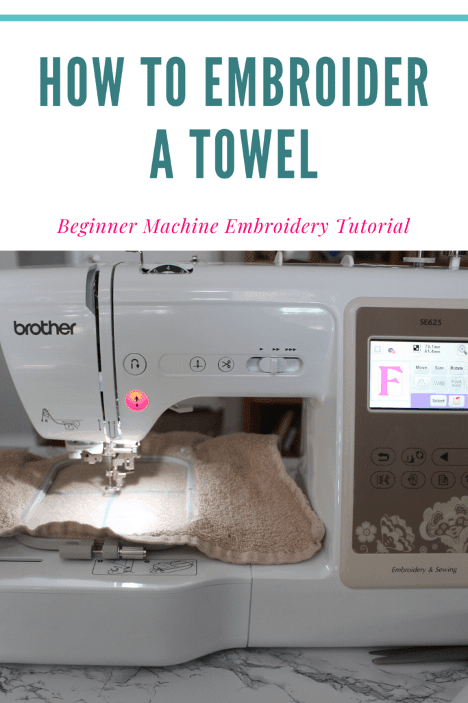 How to embroider a towel