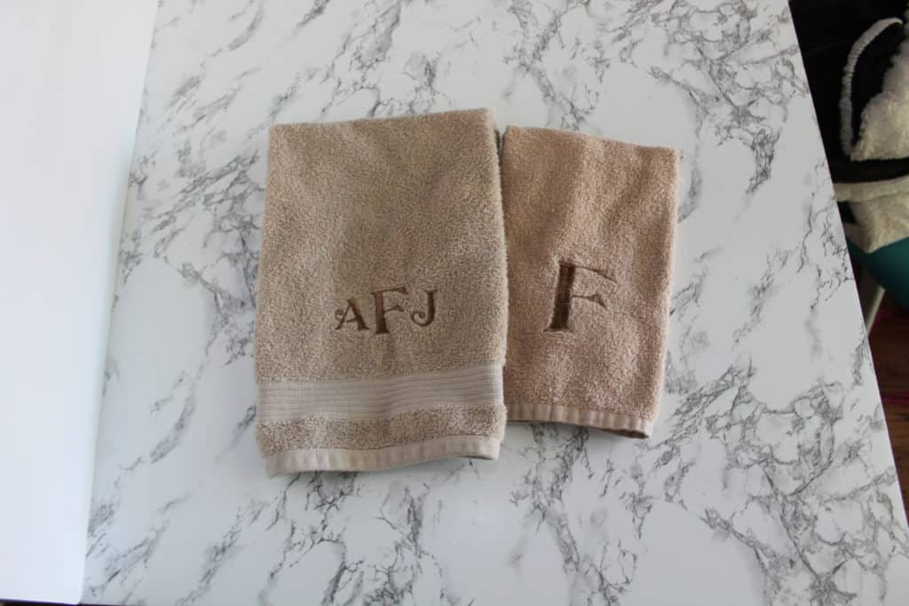 embroidered towels with monograms