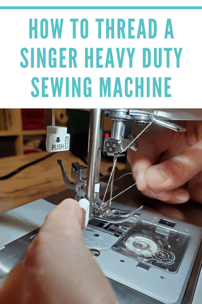 threading a singer heavy duty sewing machine