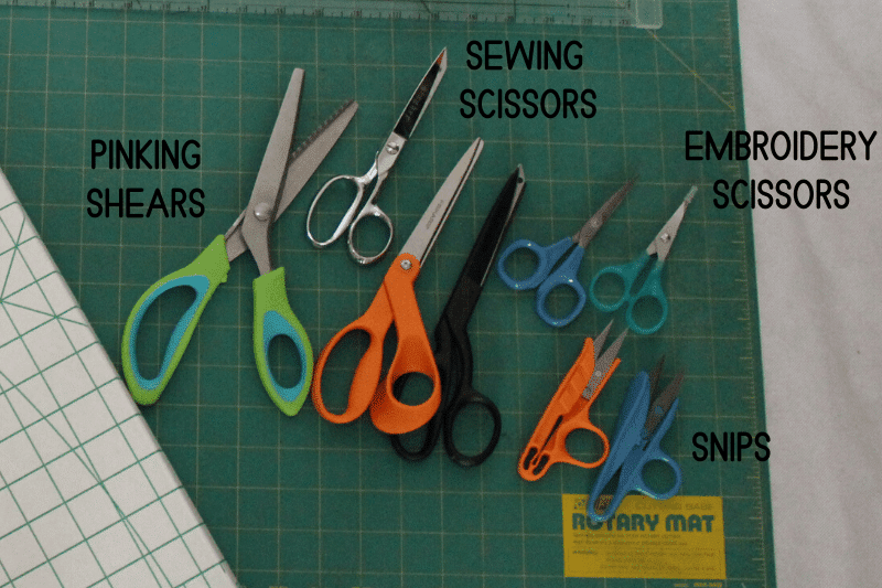sewing scissors and shears as a sewing tool