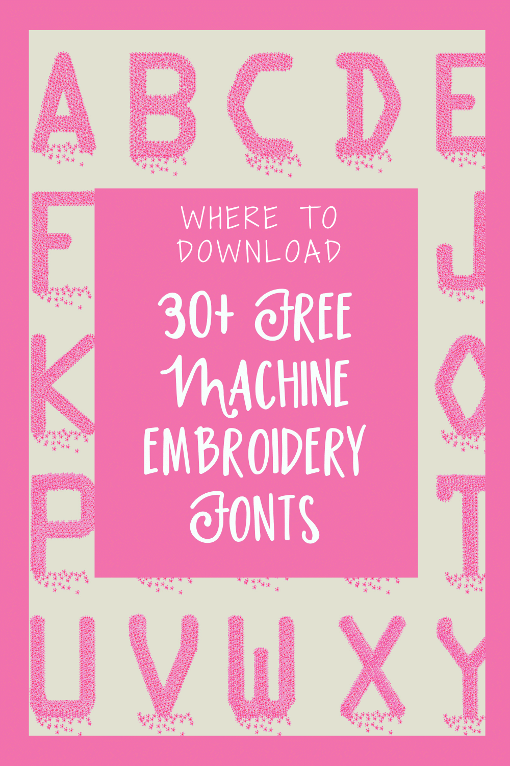 bx embroidery fonts free