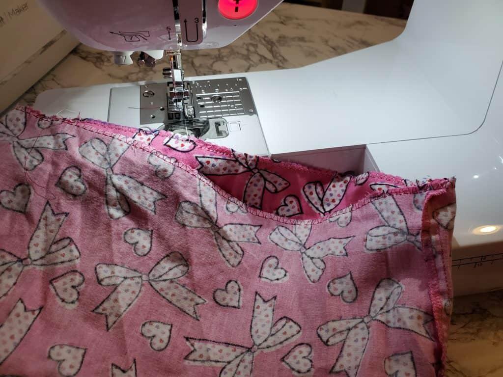 finish seam edges with overcasting or zigzag stitch