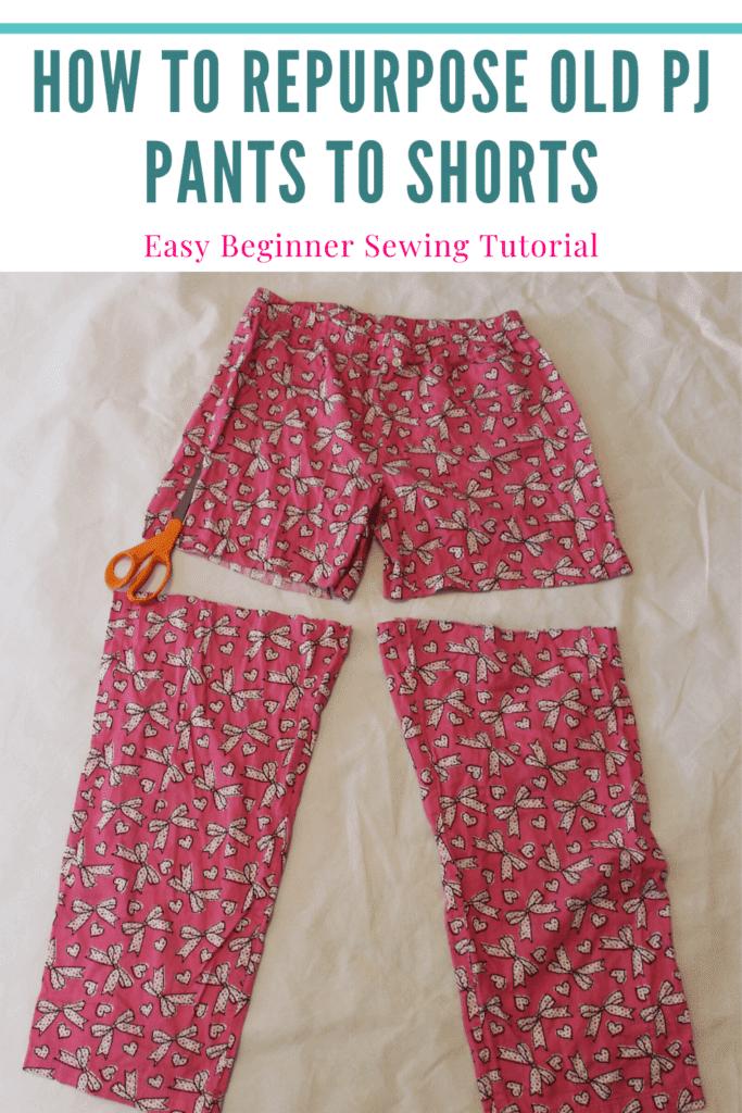 how to sew pajama shorts