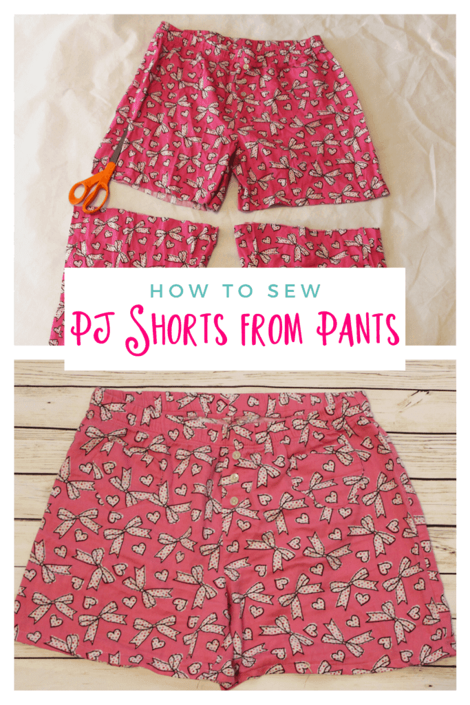 how to sew pj shorts