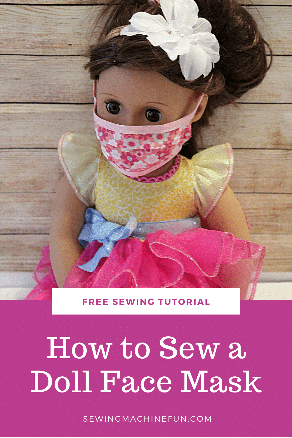 How to sew a doll face mask