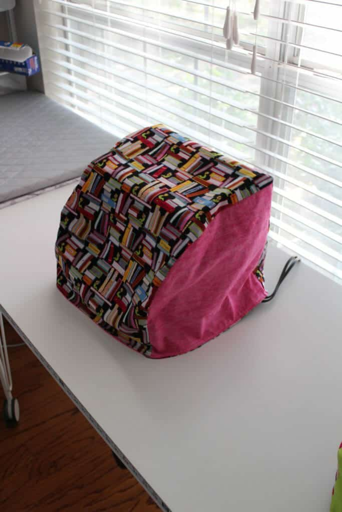 serger sewn cover