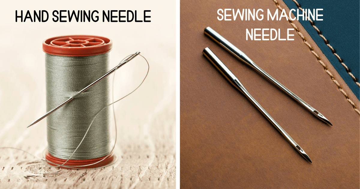 hand sewing needle vs sewing machine needle