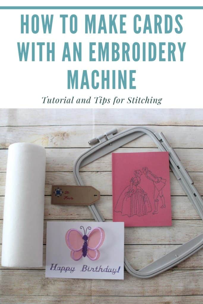 make cards with an embroidery machine