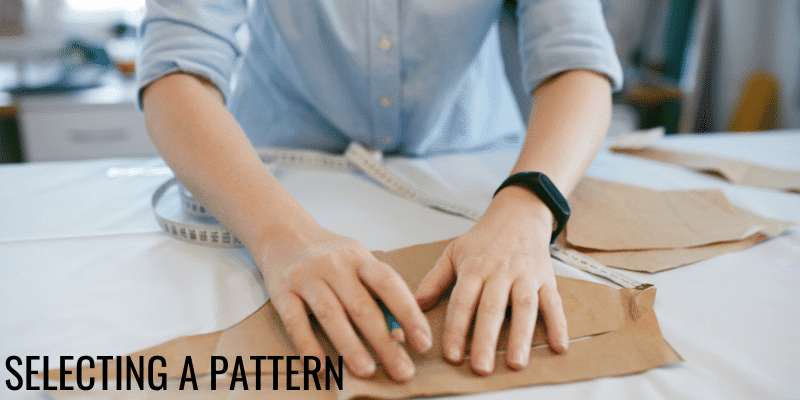 selecting a pattern