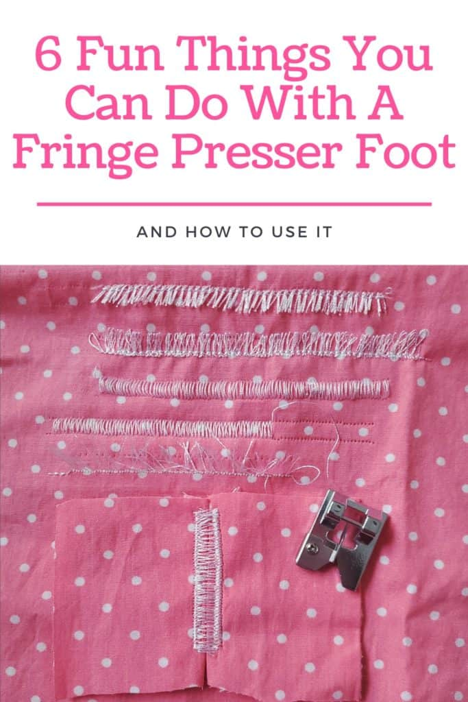 How to Use a fringe presser foot