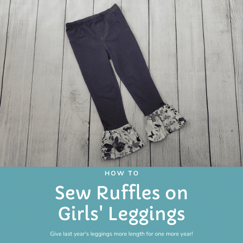 how to sew ruffles on leggings