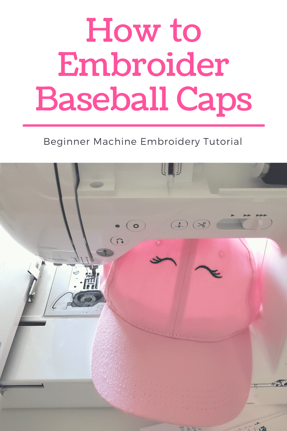 How to Machine Embroider Hats