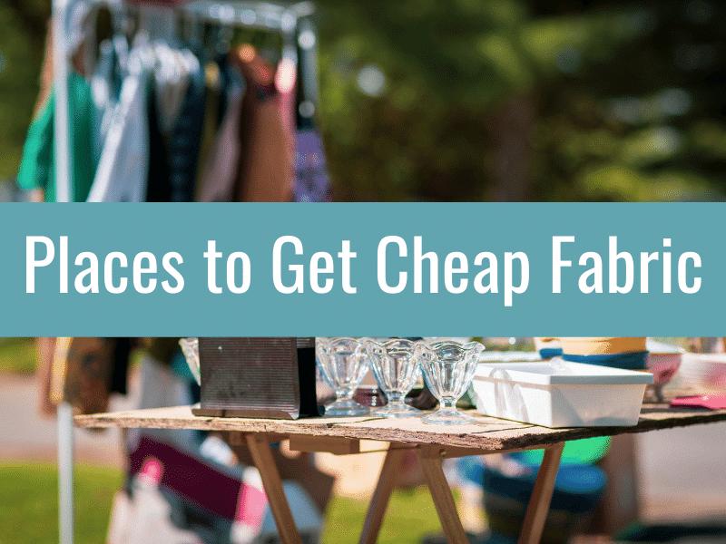 garage sales: buy cheap fabric here