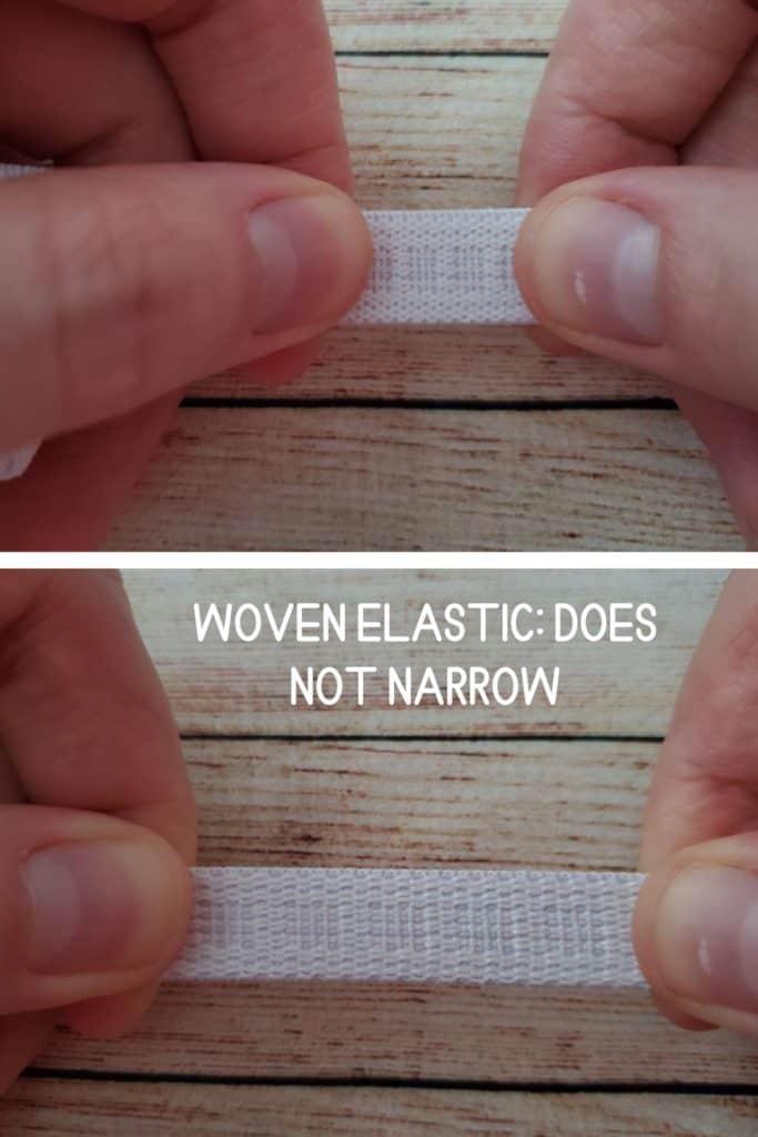 woven elastic_ does not narrow