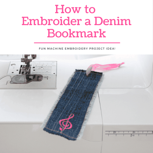 How to Embroider a Denim Bookmark – Cute Gift Idea!
