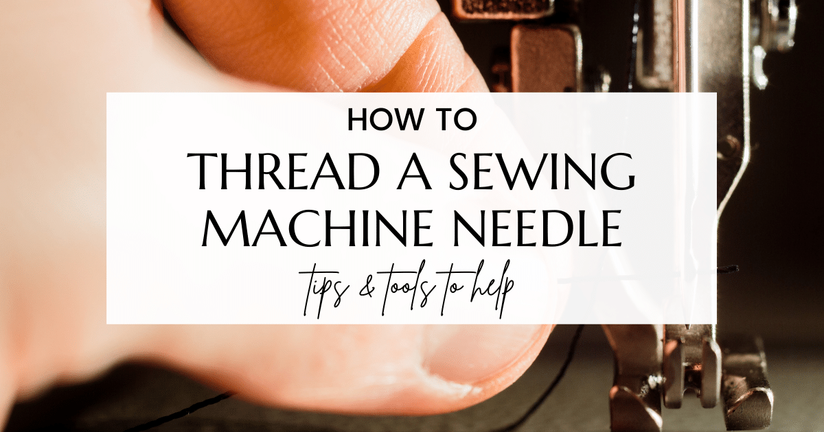 easy way to thread a sewing machine needle