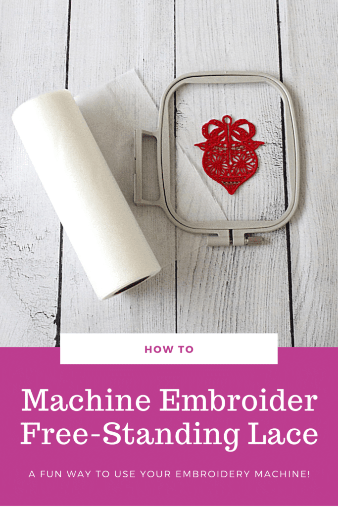free-standing lace embroidery tutorial