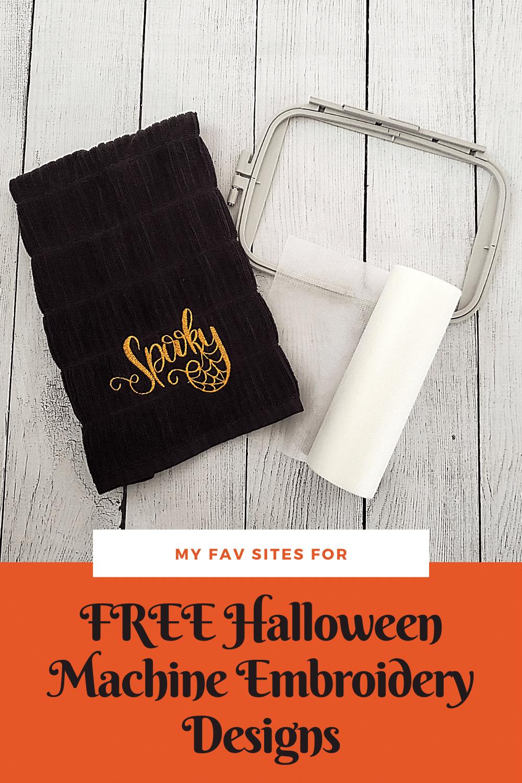 free halloween embroidery machine designs