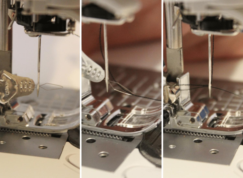 using a silver needle threader