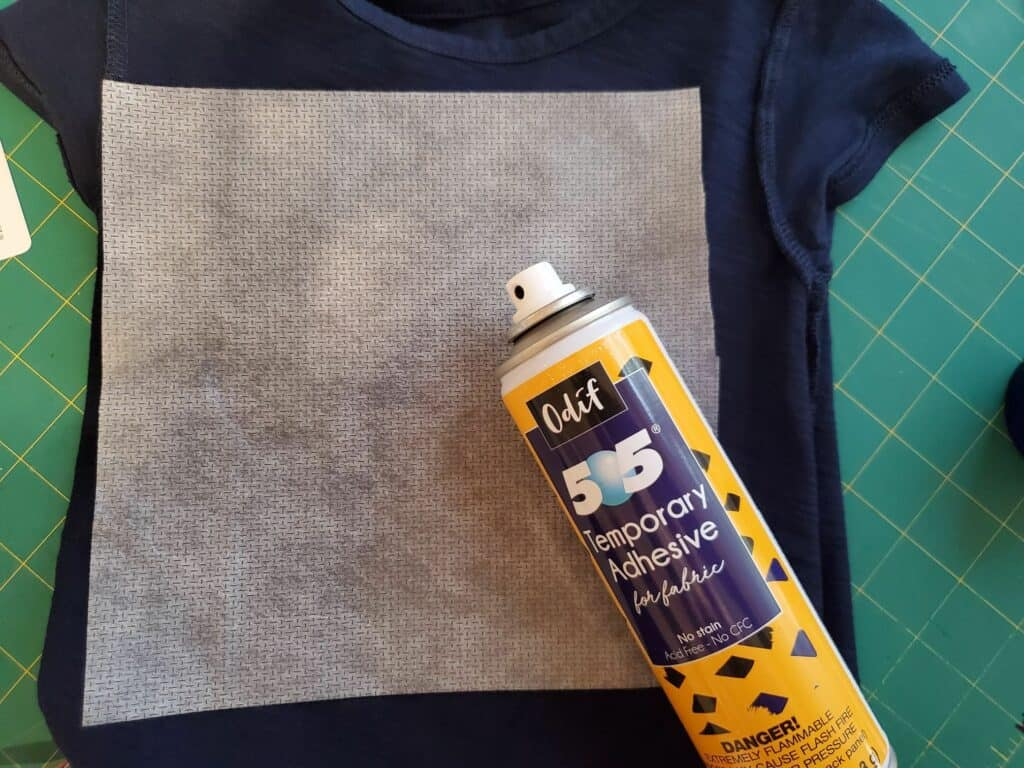 adhere stabilzer to back of base fabric