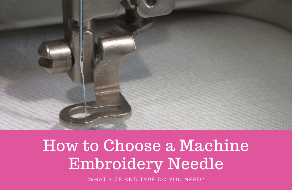 machine embroidery needles for beginners