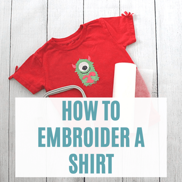 how to machine embroider a t-shirt