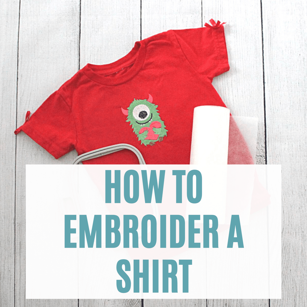 How to Embroider a T-Shirt with Your Machine