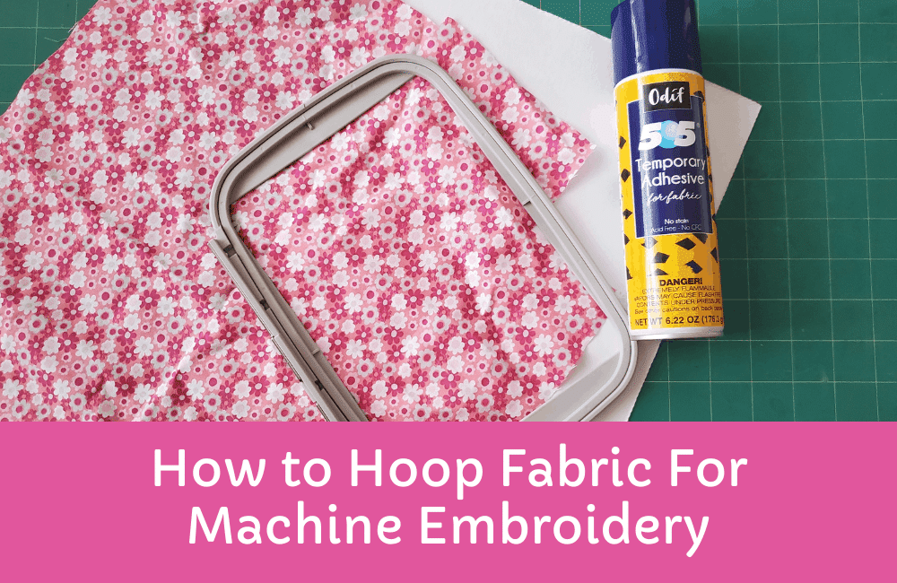 hooping fabric: embroidery for beginners tutorial