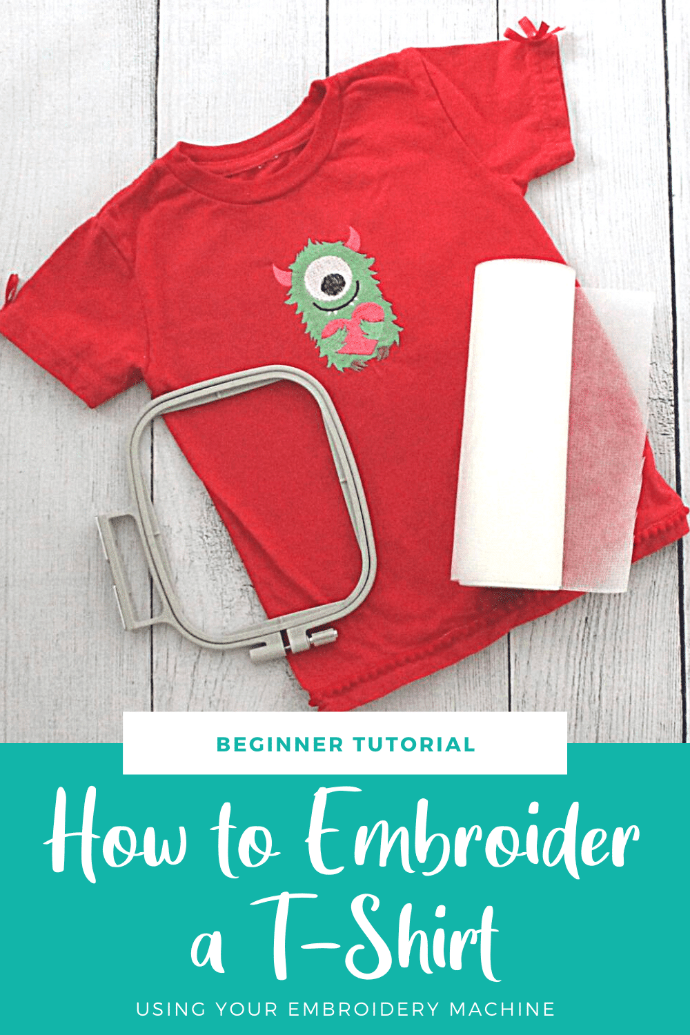 How to embroider a t-shirt