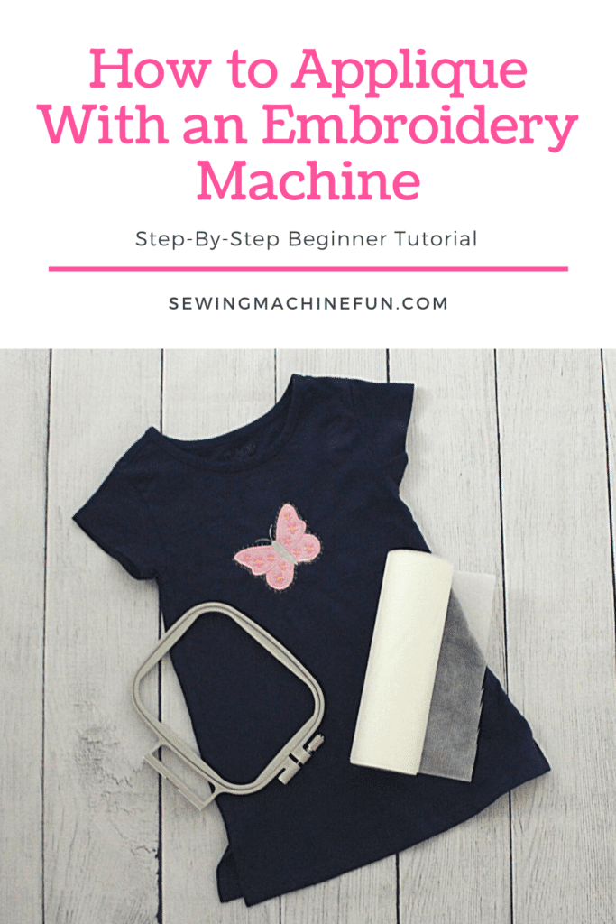 how to applique with an embroidery machine