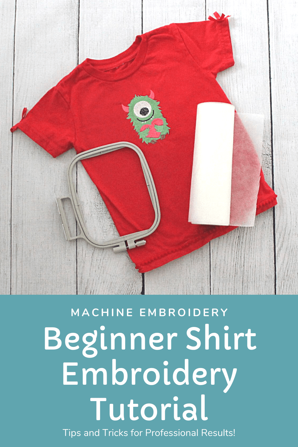 howt to machine embroider a t-shirt