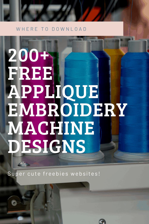 free machine embroidery applique designs