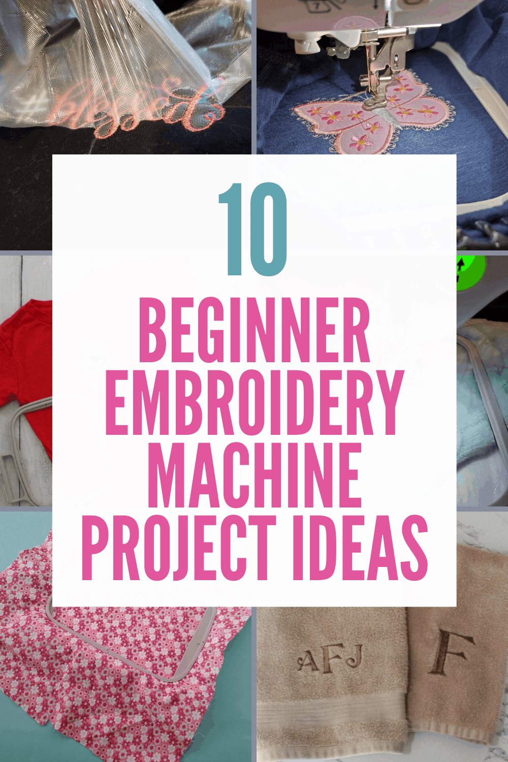10 Easy Beginner embroidery Machine Projects