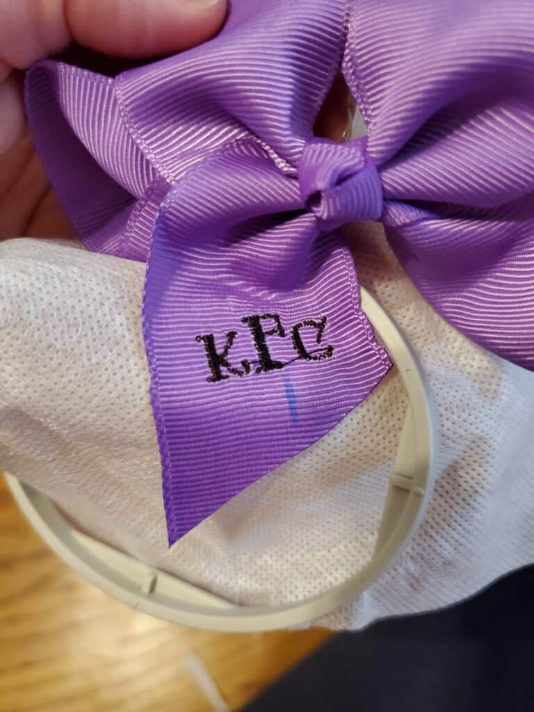 how to keep ribbon from puckering with stitches