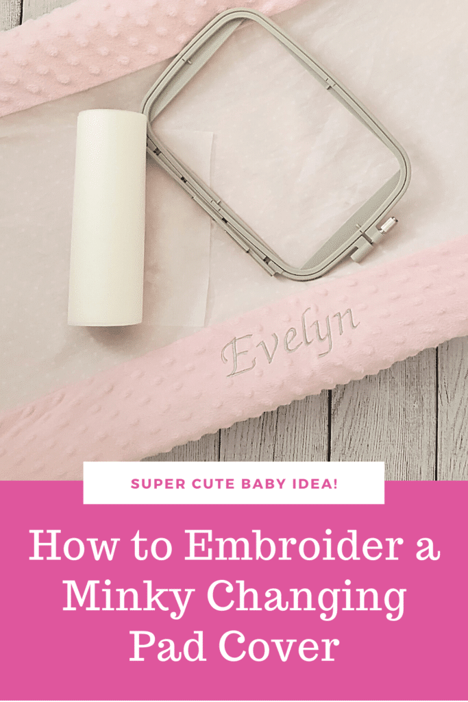 how to embroider on minkee with an embroidery machine