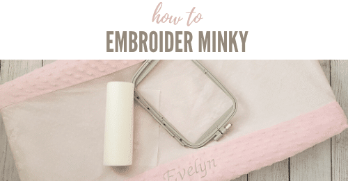 how to embroider minky