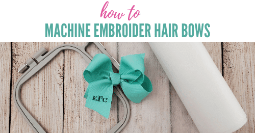 how to embroider hair bows