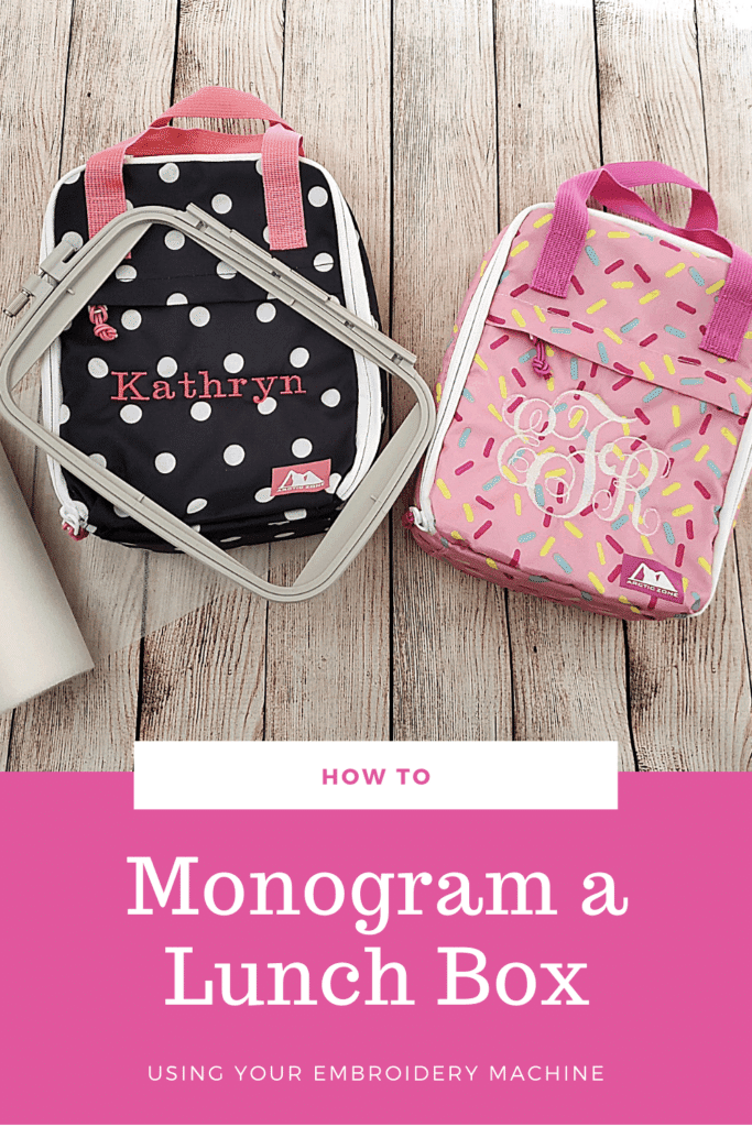 How to monogram a lunch box