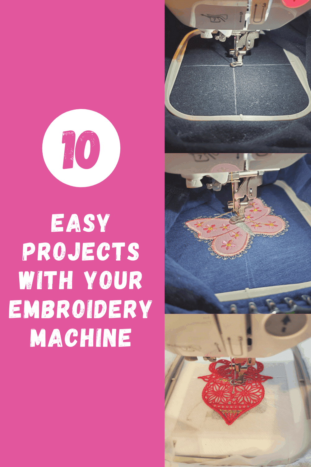 easy projects with your embroidery machine